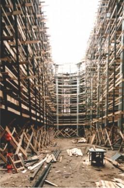 9 betonowych gotowych filarów – 1995 r.