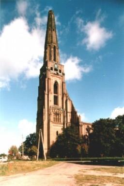 Ruina Kościoła Mariackiego od strony południowo-zachodniej 1987
