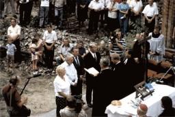 Złota konrmacja podczas Nabożeństwa Ekumenicznego 1992 r.