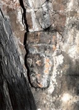 Konsola sklepienia na ścianie płn. przed restauracją